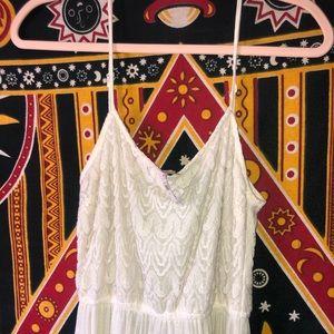 Adjustable tank top, sheer, floor length dress